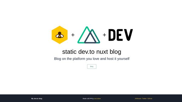 Nuxt static blog home page